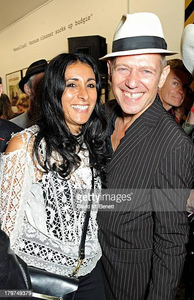 Serena Rees and Paul Simonon attend the launch of 'Black Market Clash' an exhibition of personal memorabilia and items curated by original members of...