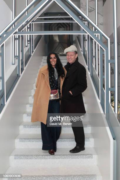 Serena Rees and Paul Simonon attend the launch of new restaurant Brasserie Of Light at Selfridges on November 20, 2018 in London, England.