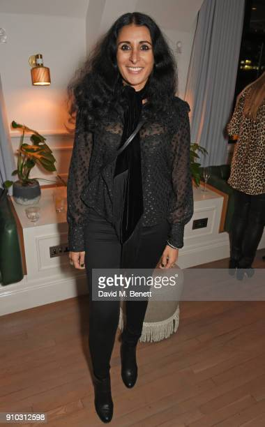Serena Rees attends the launch of Teresa Tarmey's new 'at home facial system' at Mortimer House, sponsored by CIROC, on January 25, 2018 in London,...