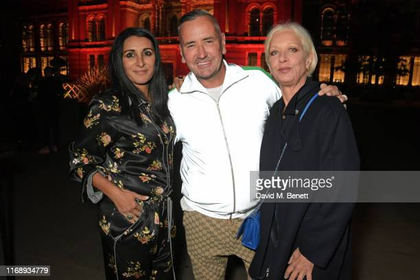 Serena Rees, DJ Fat Tony and Mary Greenwell attend the Tim Walker: Wonderful Things exhibition launch at The V&A in partnership with British Fashion...