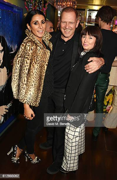 Serena Rees Paul Simonon and Charlotte Cutler attend the Another Man A/W launch event hosted by Harry Styles Alister Mackie and Kris Van Assche at...