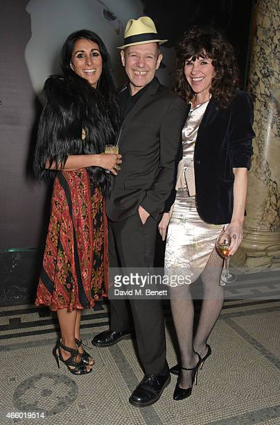 Serena Rees, Paul Simonon and Jess Morris attend the Alexander McQueen: Savage Beauty Fashion Gala at the V&A, presented by American Express and...