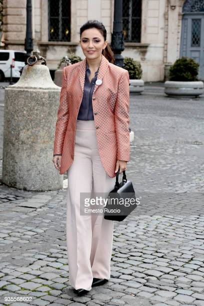 Serena Rossi arrives at the David Di Donatello nominees presentation at Palazzo del Quirinale on March 21 2018 in Rome Italy