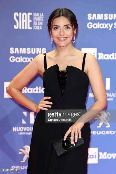 Serena Rossi attends the 64. David Di Donatello awards on March 27, 2019 in Rome, Italy.