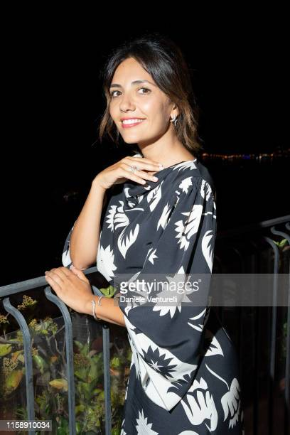 Serena Rossi attends the Nastri D'Argento dinner in Taormina on June 28, 2019 in Taormina, Italy.