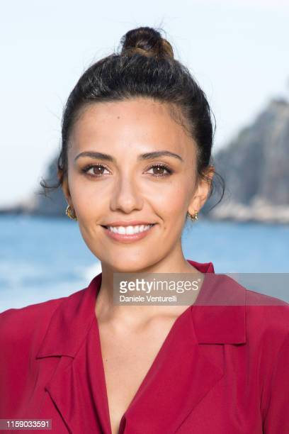 Serena Rossi attends the Nastri D'Argento press conference in Taormina on June 29, 2019 in Taormina, Italy.