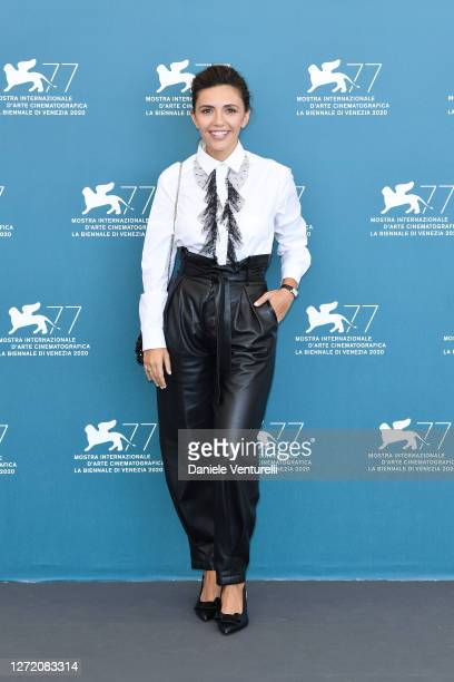 "Serena Rossi attends the photocall of the movie ""Lasciami Andare"" at the 77th Venice Film Festival on September 12, 2020 in Venice, Italy."