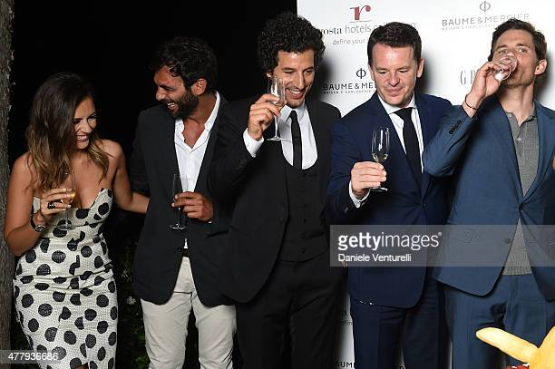 Serena Rossi Francesco Arca Francesco Scianna Alain Zimmermann and James Marsden attend the Baume Mercier and Grazia Gala Dinner 61st Taormina Film...