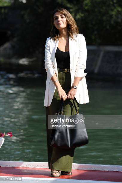 Serena Rossi is seen arriving at the Excelsior during the 77th Venice Film Festival on September 11, 2020 in Venice, Italy.