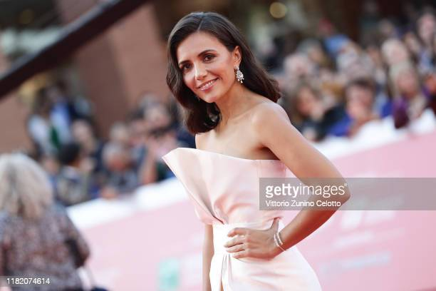 Serena Rossi walks a red carpet during the 14th Rome Film Festival on October 19, 2019 in Rome, Italy.