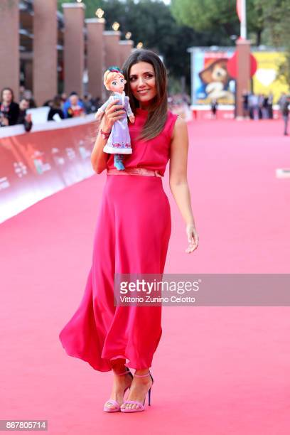 Serena Rossi walks a red carpet for 'Frozen. Olaf's Frozen Adventure' during the 12th Rome Film Fest at Auditorium Parco Della Musica on October 29,...