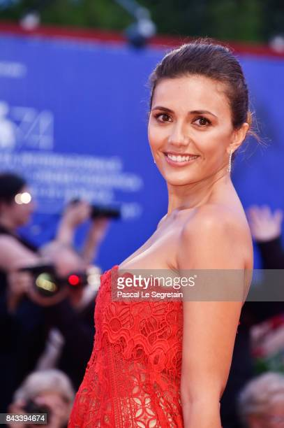 Serena Rossi walks the red carpet ahead of the 'Ammore E Malavita' screening during the 74th Venice Film Festival at Sala Grande on September 6, 2017...
