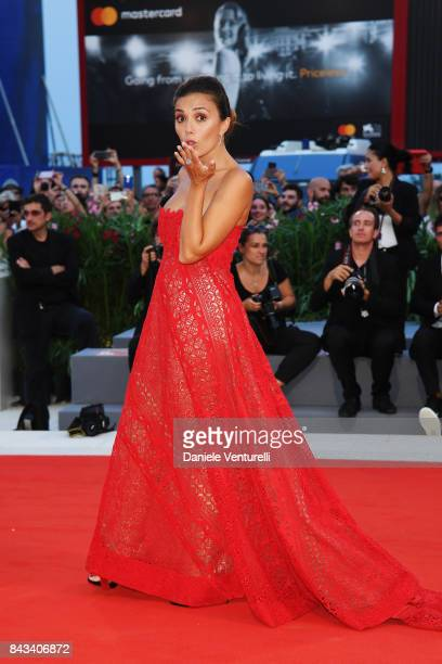 Serena Rossi walks the red carpet ahead of the 'Ammore E Malavita' screening during the 74th Venice Film Festival at Sala Grande on September 6 2017...