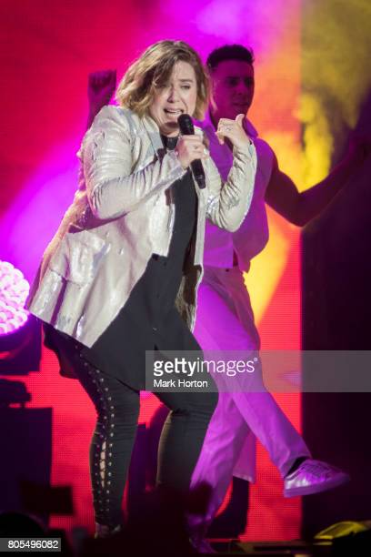 Serena Ryder performs during Canada Day celebrations at Parliament Hill on July 1 2017 in Ottawa Canada