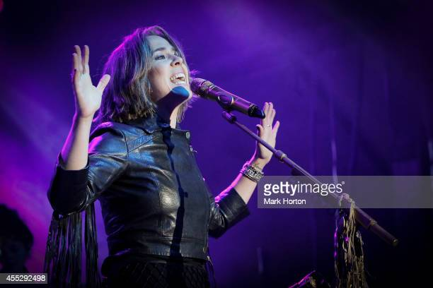 Serena Ryder performs on Day 2 of the Ottawa Folk Festival on September 11 2014 in Ottawa Canada