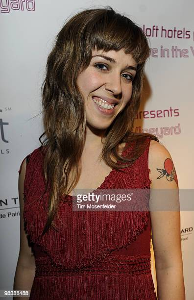 Serena Ryder poses at Aloft Hotels' Live in the Vineyard Presented By Aloft Hotels on April 10 2010 in Napa California