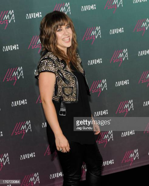 Serena Ryder poses in the press room at the 2013 MuchMusic Video Awards at Bell Media Headquarters on June 16 2013 in Toronto Canada