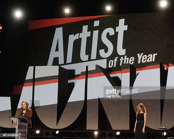 Serena Ryder wins Artist of the Year at the Juno Awards Gala on March 29 2014 in Winnipeg Canada