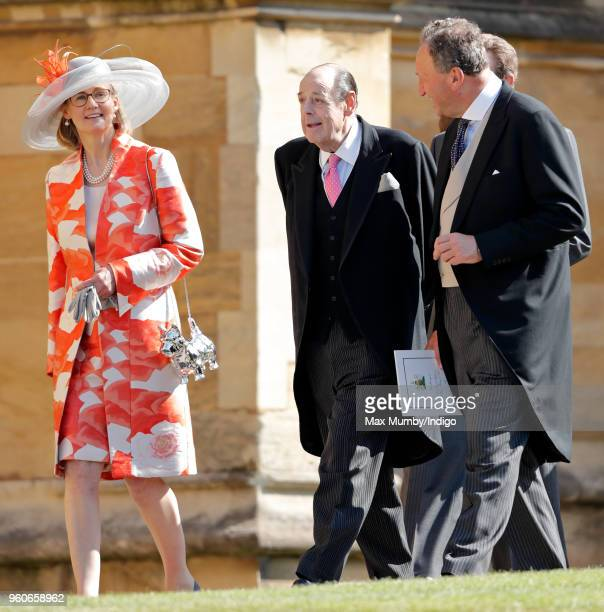 Serena Soames and Sir Nicholas Soames attend the wedding of Prince Harry to Ms Meghan Markle at St George's Chapel, Windsor Castle on May 19, 2018 in...