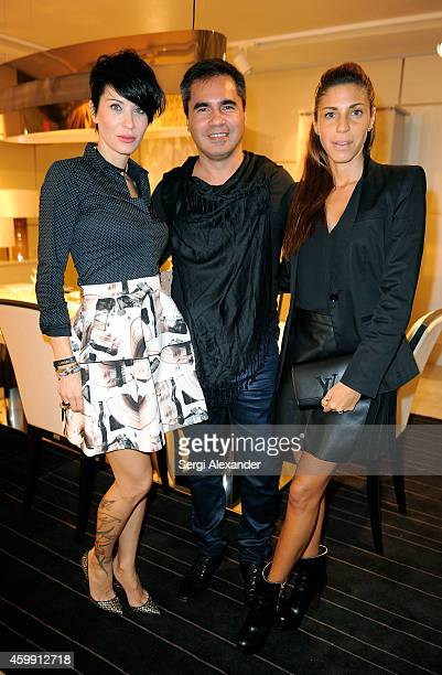 Serena Ugoini Marcillo Ravrio and Vanessa Nunez attend Luxury Living Showroom Art Basel Miami Beach Event on December 3 2014 in Miami Florida