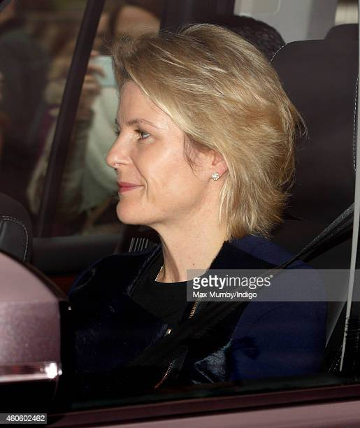 Serena Viscountess Linley attends a Christmas lunch for members of the Royal Family hosted by Queen Elizabeth II at Buckingham Palace on December 17...