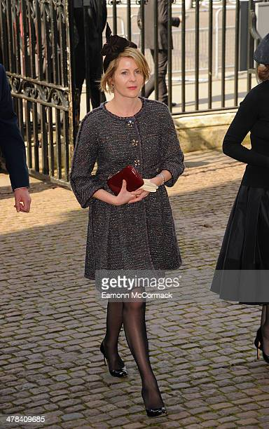 Serena Viscountess Linley attends a memorial service for Sir David Frost at Westminster Abbey on March 13 2014 in London England