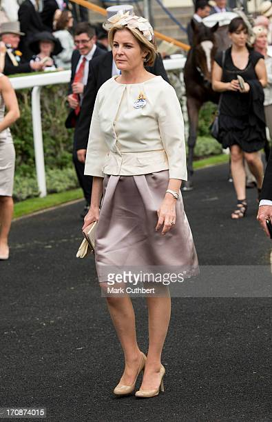 Serena Viscountess Linley attends Day 2 of Royal Ascot at Ascot Racecourse on June 19 2013 in Ascot England