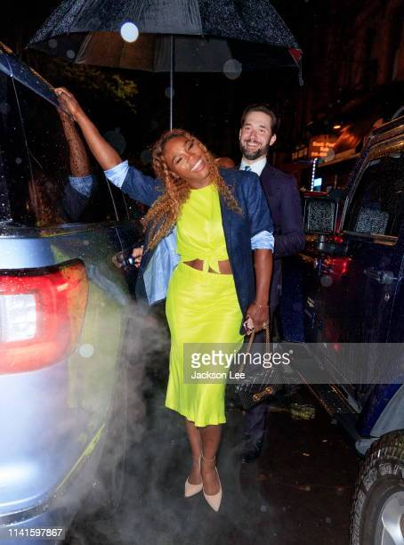 Serena Williams and Alex Ohanian are seen on May 5, 2019 in New York City.