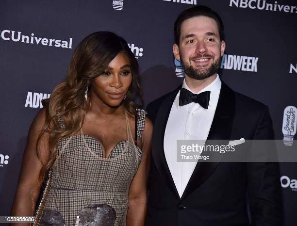 Serena Williams and Alexis Ohanian attend the 2018 Brand Genius Awards at Cipriani 25 Broadway on November 7 2018 in New York City