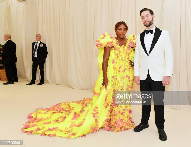 Serena Williams and Alexis Ohanian attend The 2019 Met Gala Celebrating Camp Notes on Fashion at Metropolitan Museum of Art on May 06 2019 in New...