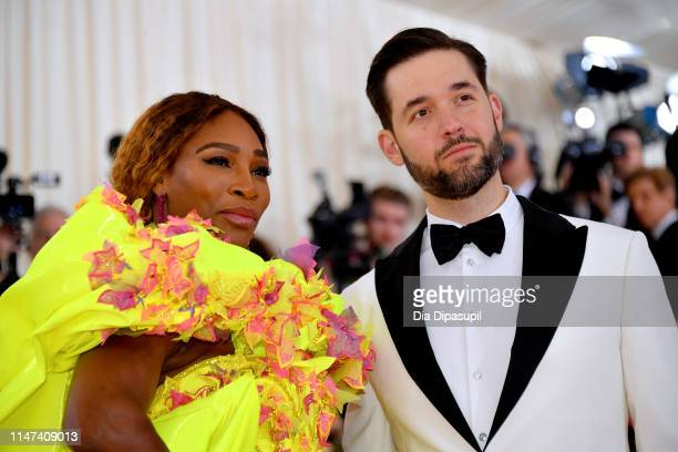 Serena Williams and Alexis Ohanian attend The 2019 Met Gala Celebrating Camp: Notes on Fashion at Metropolitan Museum of Art on May 06, 2019 in New...