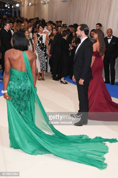 Serena Williams and Alexis Ohanian attends 'Rei Kawakubo/Comme des Garcons Art Of The InBetween' Costume Institute Gala Arrivals at Metropolitan...