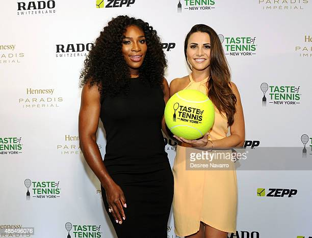 Serena Williams and Andi Dorfman attend 2015 Taste of Tennis New York at W New York Hotel on August 27 2015 in New York City