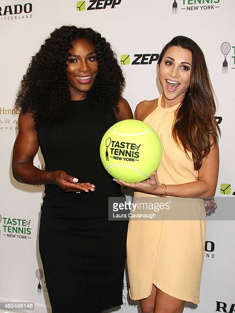 Serena Williams and Andi Dorfman attend the 2015 Taste of Tennis New York at the W New York Hotel on August 27 2015 in New York City