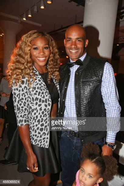 Serena Williams and Boris Kodjoe attend Serena Williams Signature Statement Collection during Style360 Spring 2015 Fashion Week on September 9 2014...