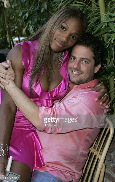 Serena Williams and Brett Ratner during Corzo Tequila Hosts Serena Williams Birthday Party at Private Residence in Los Angeles California United...