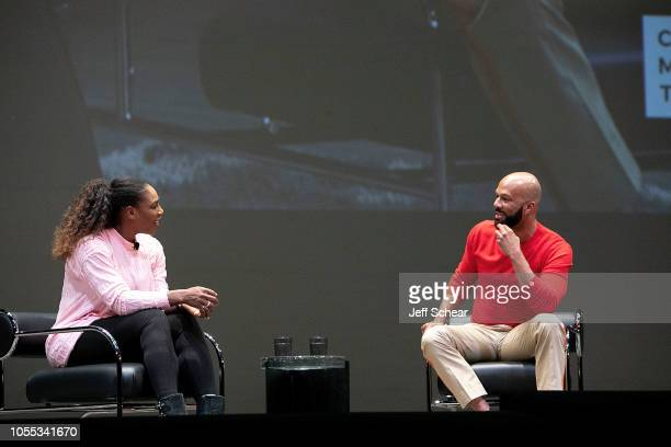 Serena Williams and Common attend Creative Minds Talks Presents a Conversation Between Athlete Entrepreneur And Philanthropist Serena Williams And...