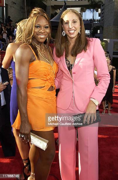 Serena Williams and Diana Taurasi during 2004 ESPY Awards Red Carpet at Kodak Theatre in Hollywood California United States