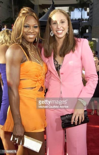 Serena Williams and Diana Taurasi during 2004 ESPY Awards Red Carpet at Kodak Theatre in Hollywood California United States