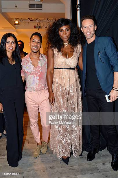 Serena Williams and guests attend Serena Williams Signature Statement Collection By HSN Backstage September 2016 Style360 Fashion Week at KIA...
