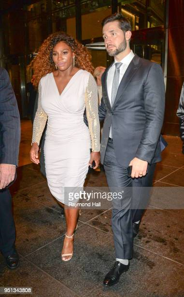 Serena Williams and husband Alexis Ohanian are seen walking in Midtown on April 25 2018 in New York City