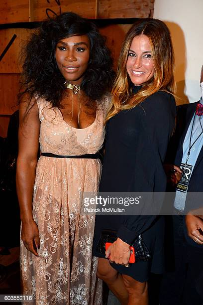 Serena Williams and Kelly Killoren Bensimon attend Serena Williams Signature Statement Collection By HSN Backstage September 2016 Style360 Fashion...