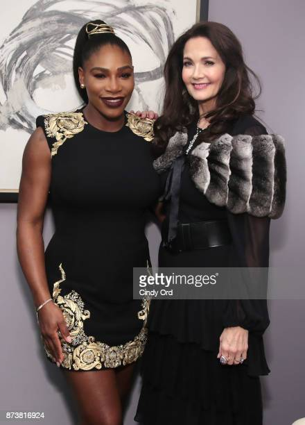 Serena Williams and Lynda Carter attend Glamour's 2017 Women of The Year Awards at Kings Theatre on November 13 2017 in Brooklyn New York