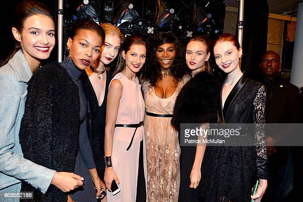 Serena Williams and Models prepare backstage at the Serena Williams Signature Statement Collection By HSN Backstage September 2016 Style360 Fashion...