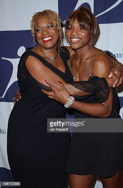 Serena Williams and mom Oracene Price during The 2003 Rising Stars Gala Presented By Big Brothers Big Sisters Los Angeles at Century Plaza Hotel in...