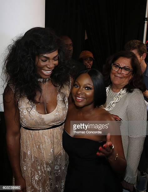 Serena Williams and Naturi Naughton attend HSN Presents Serena Williams Signature Statement Collection Fashion Show at Kia STYLE360 New York Fashion...
