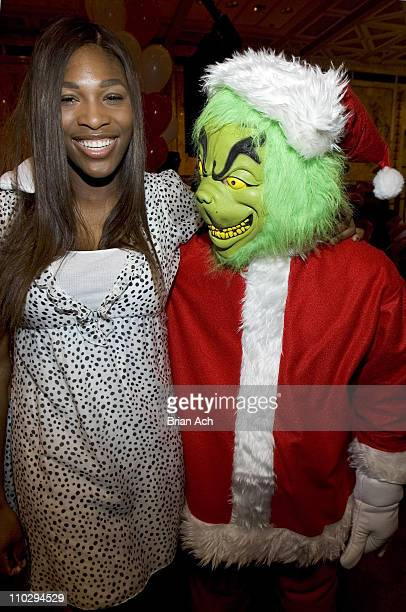 Serena Williams and The Grinch during NEA's Reading on the Red Carpet to Celebrate Read Across America Day at The New York Public Library in New York...