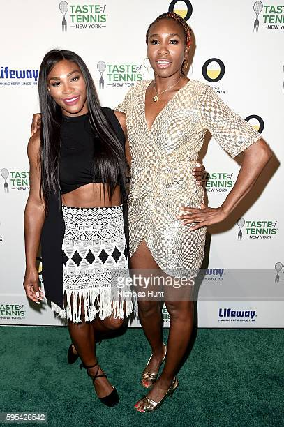 Serena Williams and Venus Williams attend Taste Of Tennis New York on August 25 2016 in New York City