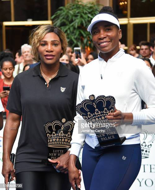 Serena Williams and Venus Williams attend the 2019 Palace Invitational at Lotte New York Palace on August 22 2019 in New York City