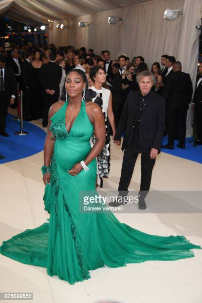 Serena Williams Arianna Alessi and Renzo Rosso attend 'Rei Kawakubo/Comme des Garcons Art Of The InBetween' Costume Institute Gala Arrivals at...